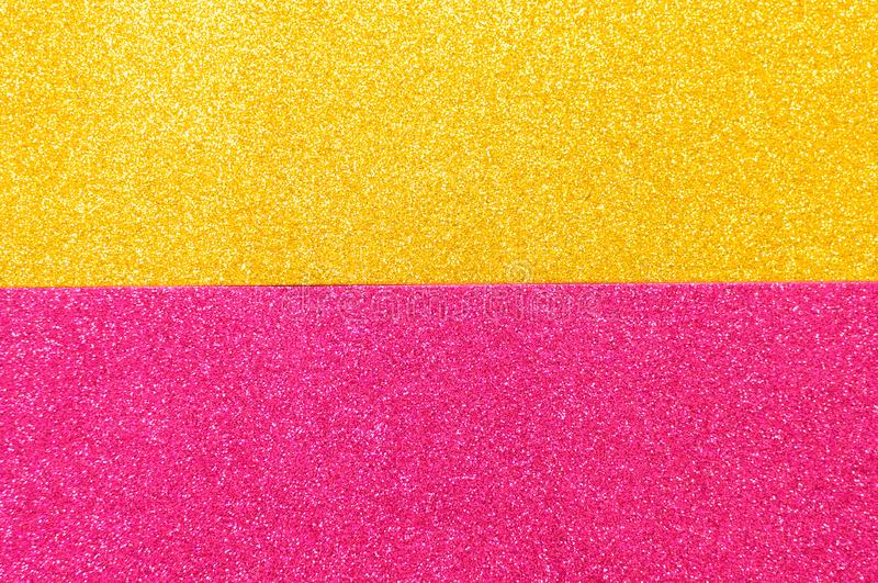 Mixed background glitter texture gold and pink abstract background isolated. Mixed glitter texture gold and pink abstract background isolated stock photo