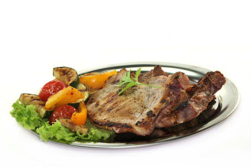Mixed grill royalty free stock image