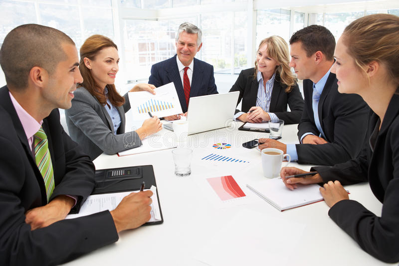 Download Mixed Group In Business Meeting Stock Image - Image: 20593899