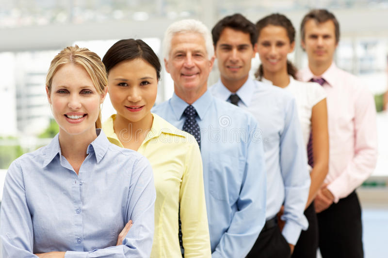 Mixed group business people royalty free stock photos