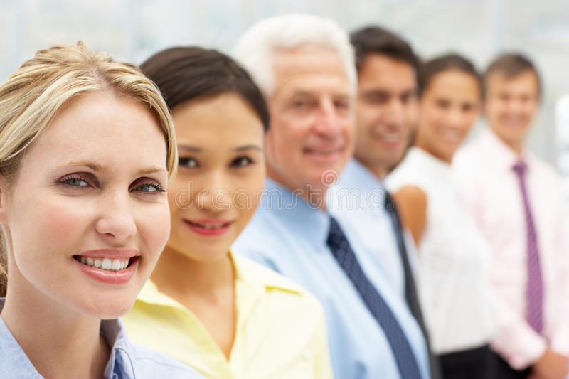 Mixed group business people stock images
