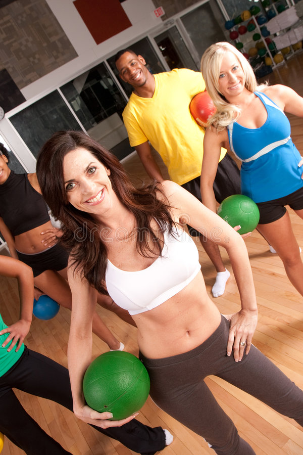 Download Mixed Group Of Workout Friends Stock Photo - Image: 9228592