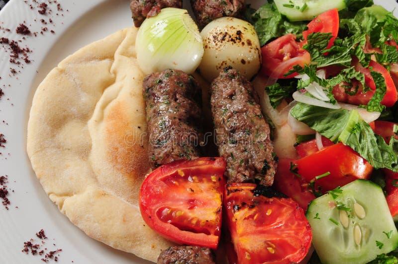 Mixed kebab royalty free stock photography