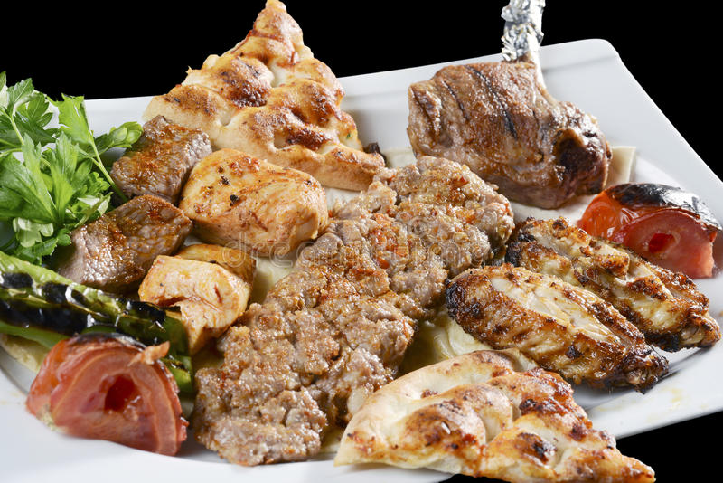 Mixed kebab stock image