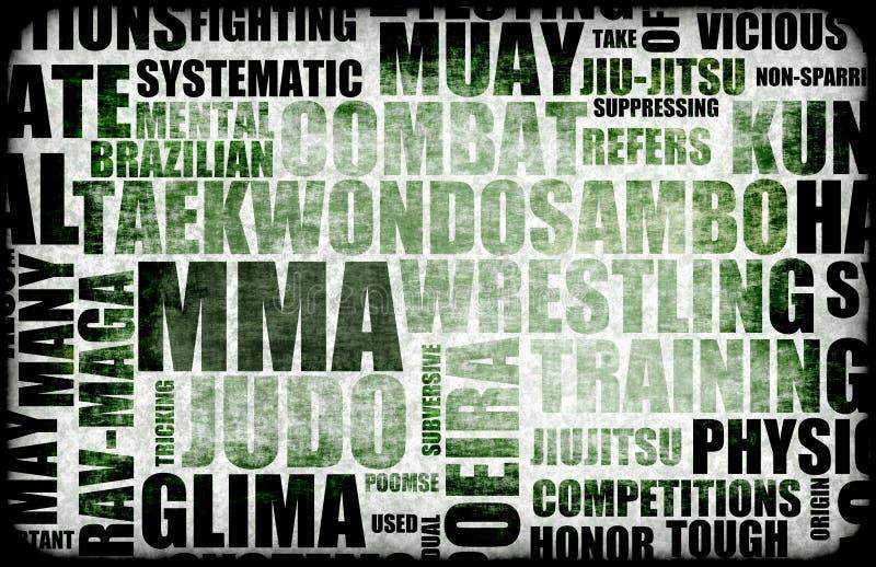 Mixed Martial Arts stock illustration