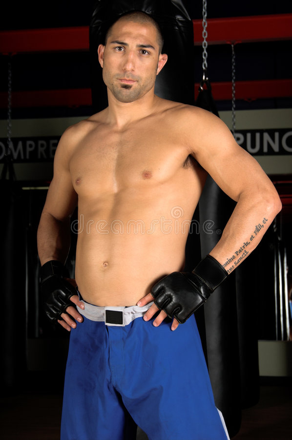 Mixed Martial Arts Fighter stock photo
