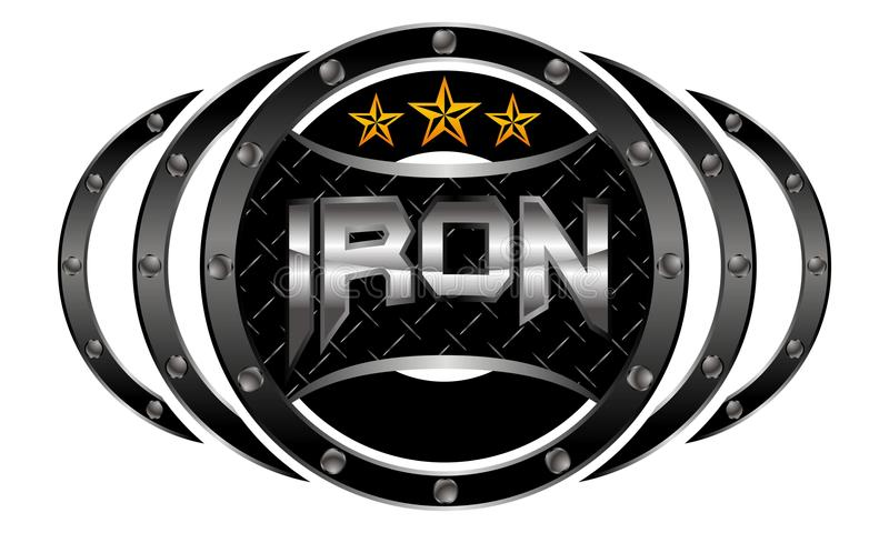 Mixed Martial Arts Letter Iron royalty free illustration