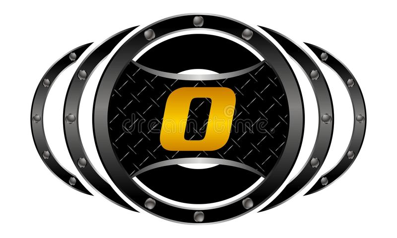 Mixed Martial Arts letter O stock illustration