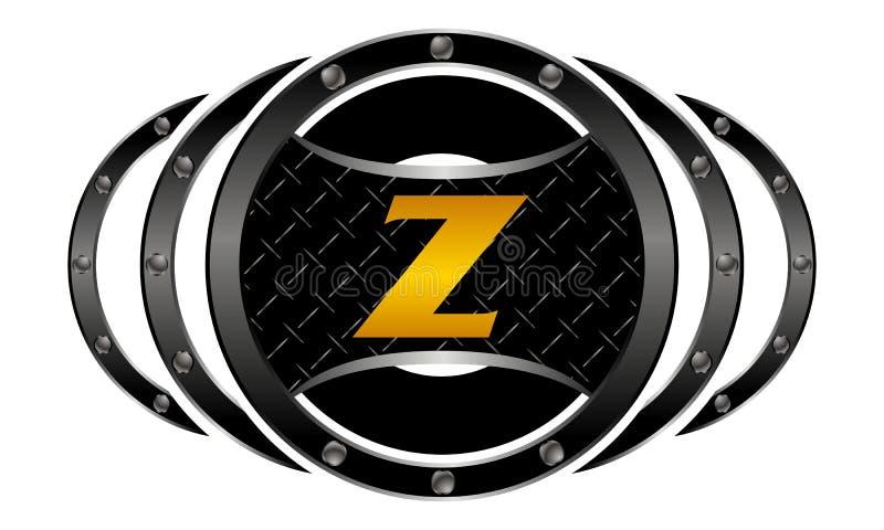 Mixed Martial Arts letter Z vector illustration