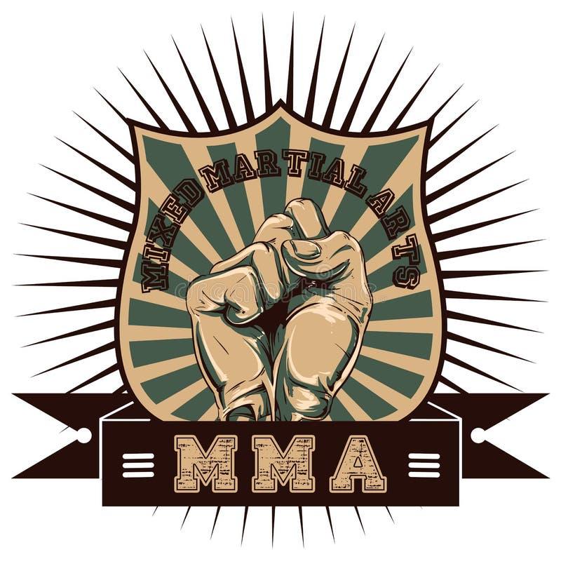 Mixed martial arts vector illustration