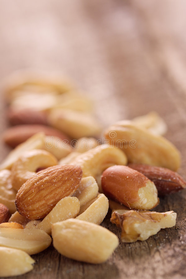Mixed nuts. royalty free stock photo