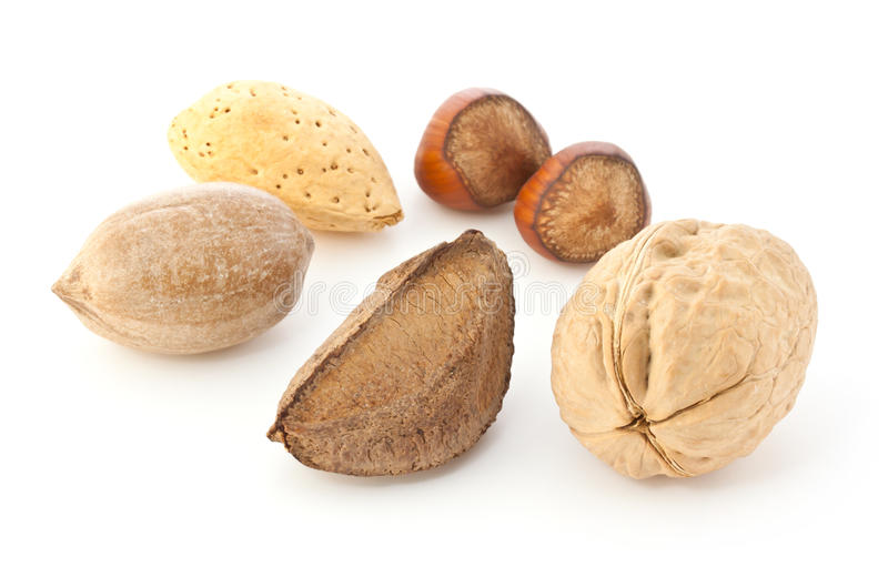 Download Mixed Nuts in the Shell stock image. Image of nuts, white - 18966545