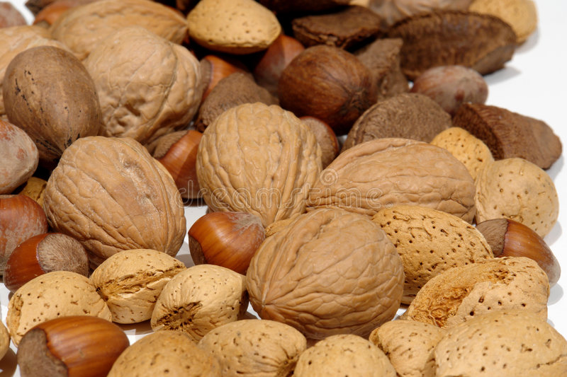 Download Mixed Nuts on white stock photo. Image of seeds, pecans - 1989312