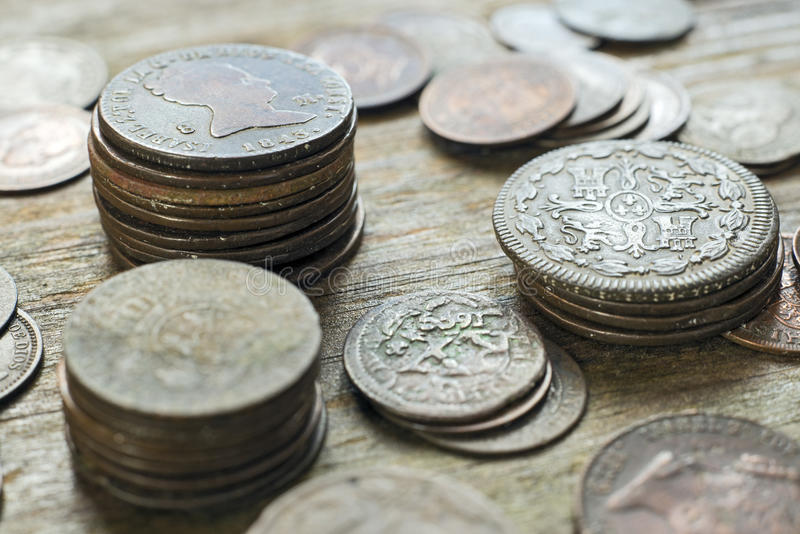 Download Mixed Old Coins stock photo. Image of finance, objects - 36870526