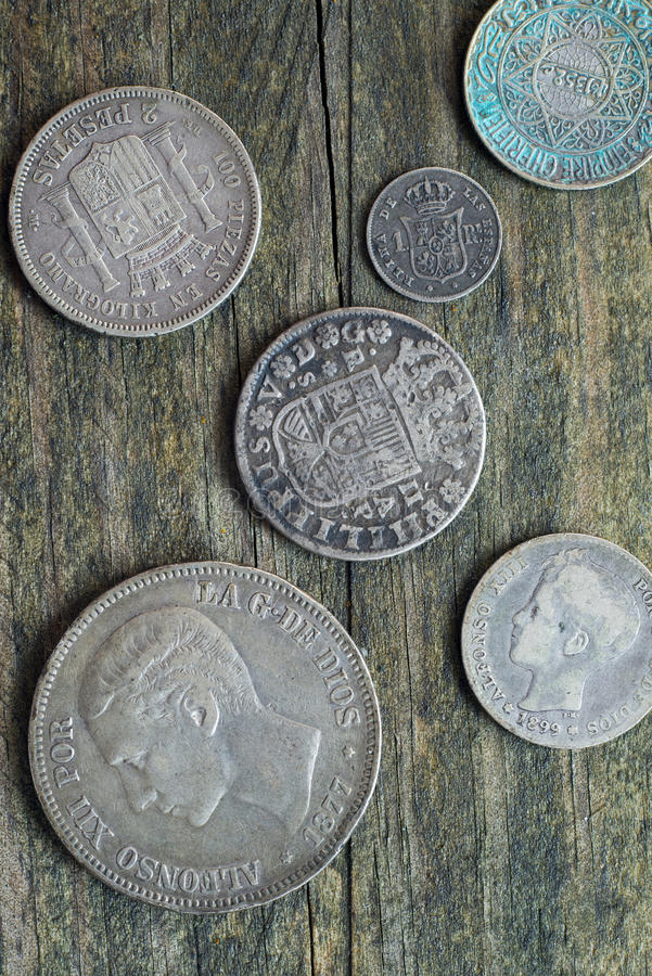 Download Mixed Old Coins stock image. Image of group, concepts - 36870865