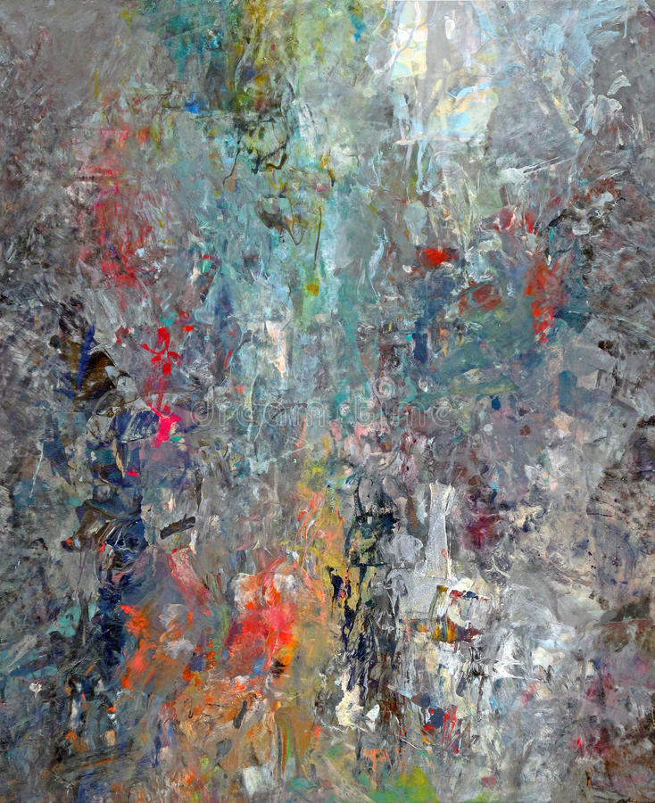 Mixed Paint Abstract. A colorful scraped mixed paint pallet abstract royalty free stock photography