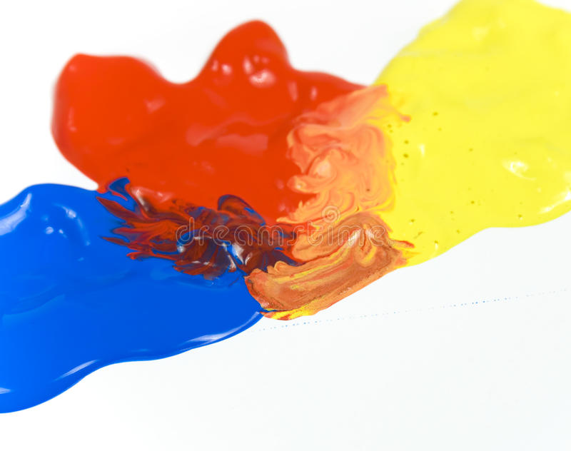 Mixed Paints Royalty Free Stock Image