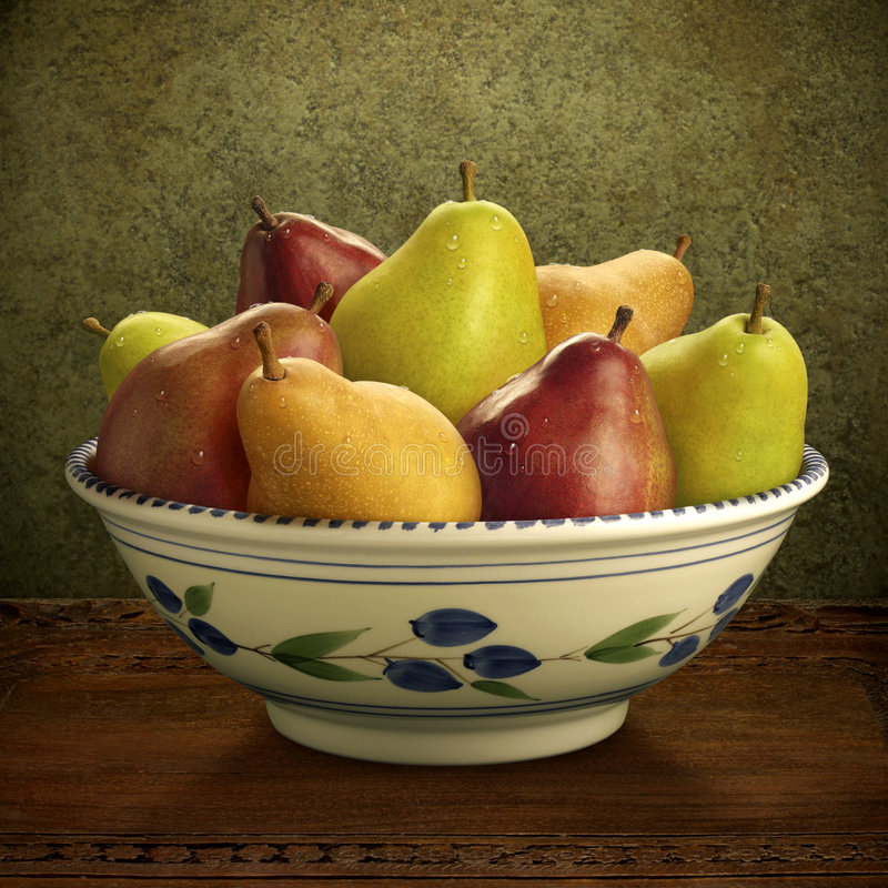 Mixed Pears. Arranged in a still life royalty free stock images