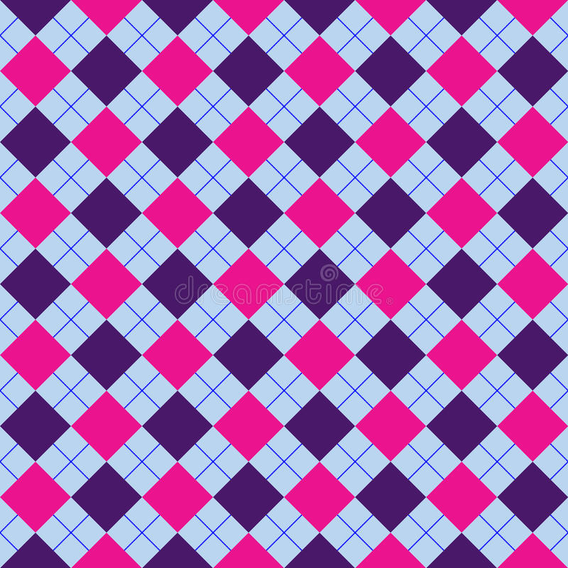 Download Mixed Purple Sweater Texture Stock Vector - Illustration of scottish, argyle: 13658737
