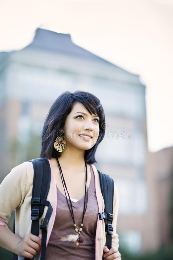 Download Mixed race college student stock photo. Image of pretty - 15429080
