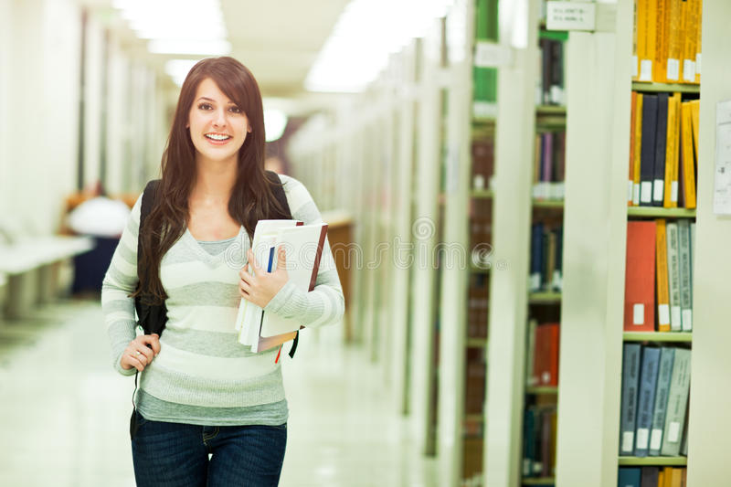 Mixed race college student royalty free stock image