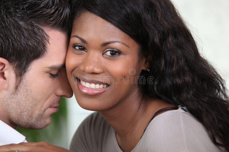 Mixed-race couple stock photo