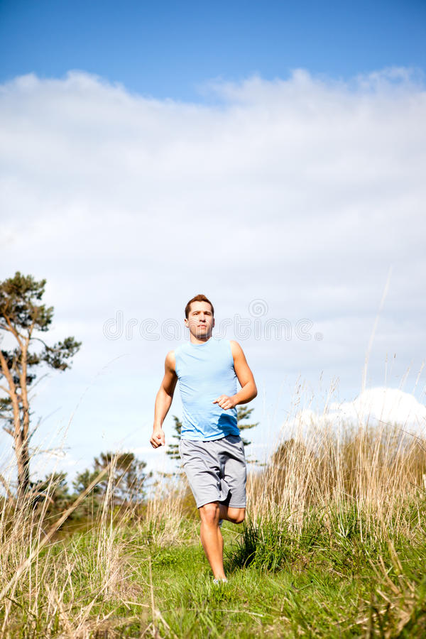 Download Mixed race man running stock image. Image of intensity - 19979883