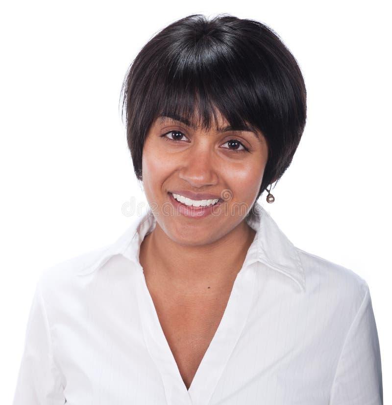 Mixed race woman. Portrait of young mixed race woman hispanic look, natural look stock photos