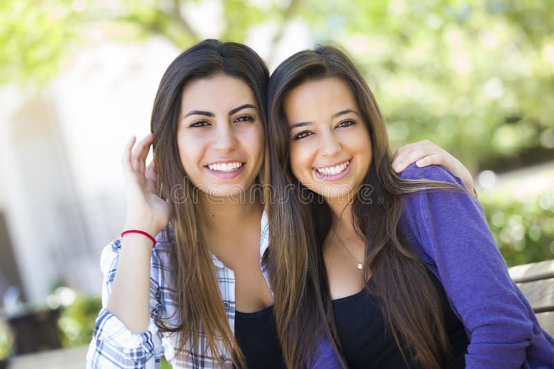 Mixed Race Young Adult Female Friends Portrait royalty free stock images