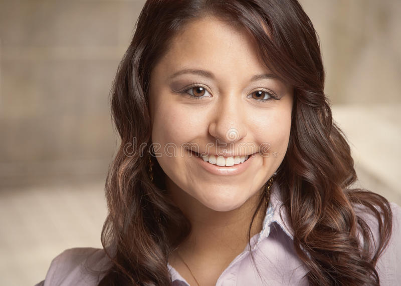 Mixed race young woman stock image