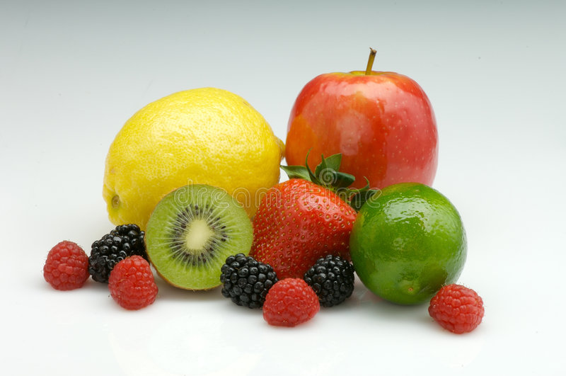 Mixed ripe fresh fruit royalty free stock photo