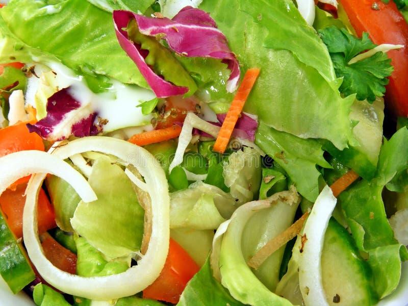 Mixed salad close up royalty free stock image