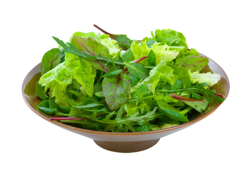 Download Mixed Salad Greens Over White Stock Image - Image of leaf, herbs: 9334403