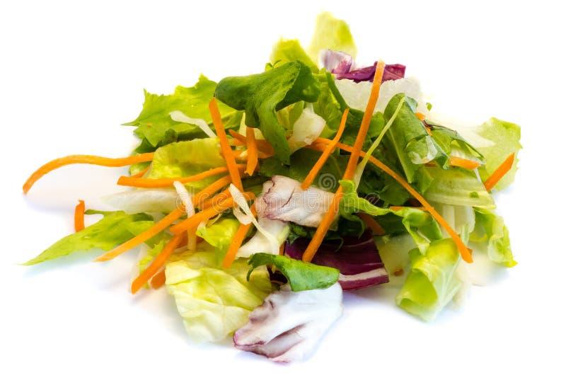 Mixed salad isolated on white background stock photos