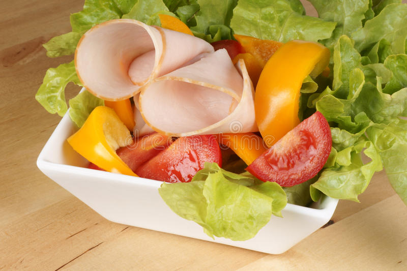 Download Mixed Salad With Roast Turkey Stock Image - Image: 14281847