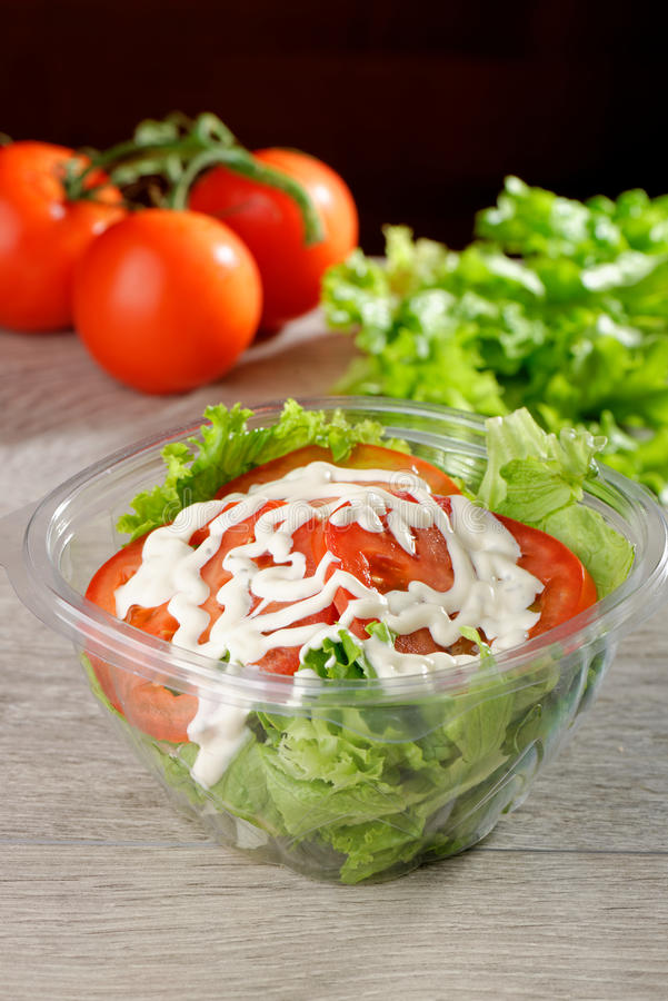 Download Mixed Salad In Takeaway Container Stock Image - Image: 41245065