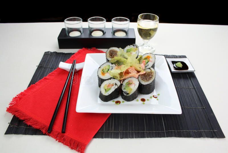 Mixed Sushi royalty free stock photo