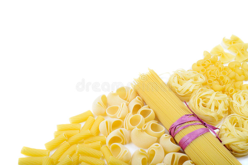 Download Mixed Uncooked Raw Italian Pasta With Spaghetti Stock Photo - Image: 43811940