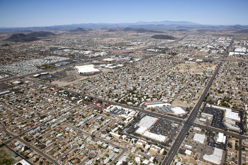 Northwest Phoenix. Mixed use near Interstate 17 in northwest Phoenix, Arizona from above stock photos