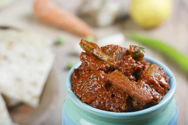 Mixed Vegetable Pickle - An Indian Pickle royalty free stock image