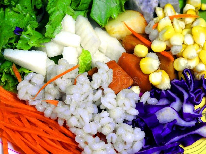 Mixed vegetable salad. royalty free stock photos