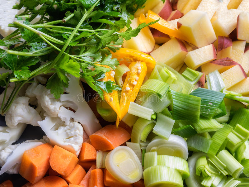 Mixed vegetables prepared to cook royalty free stock photography