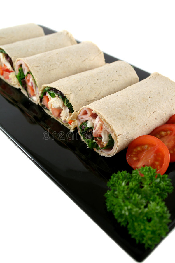 Mixed Wrap Platter 2 Royalty Free Stock Photography