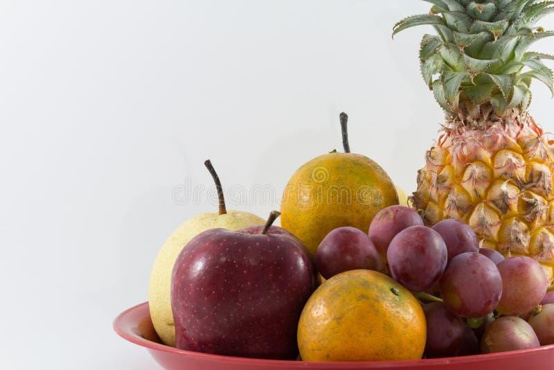 Mixefruit op het dienblad royalty-vrije stock fotografie