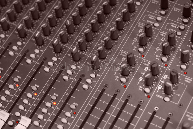 Download Mixer stock photo. Image of table, studio, music, mixing - 496562