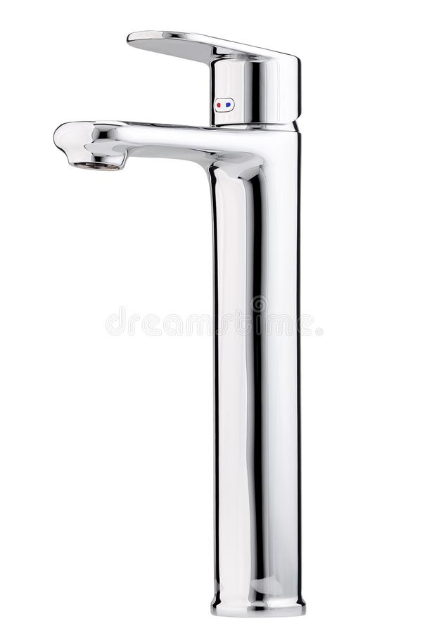 Mixer cold hot water. Modern faucet bathroom. Kitchen tap . royalty free stock images