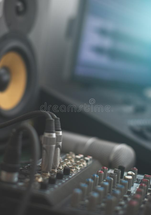 Concept of home music studio. royalty free stock images