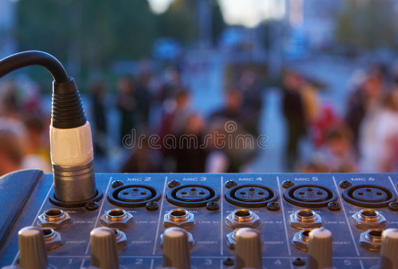Download Mixer control stock image. Image of channels, bright - 28804597