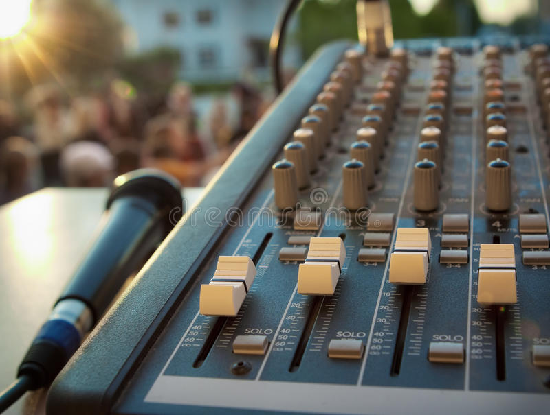 Download Mixer Control And Microphone Stock Image - Image: 28804599
