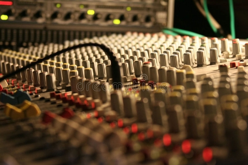 Mixer in dark stock foto's